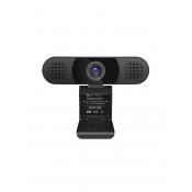 EMeet C980 Pro HD Webcam met 4 AI Microfoons zwart